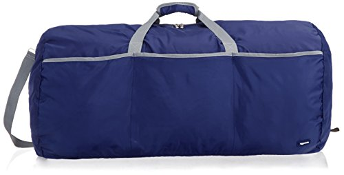 AmazonBasics Large Travel Luggage Duffel Bag - Navy Blue
