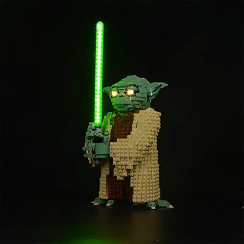 PEXL - Juego de iluminación LED para LEGO 75255 Star Wars Yoda (sin juego de Lego)