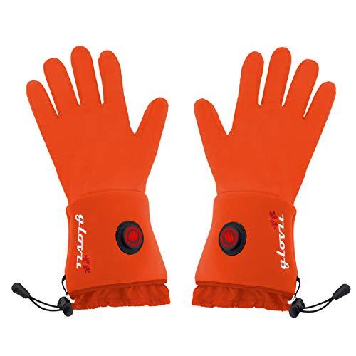 Glovii GLR Akku Beheizte Thermoaktive Universal Handschuhe, Größen XXS-XL, Orange, Akkus Enthalten (L-XL)