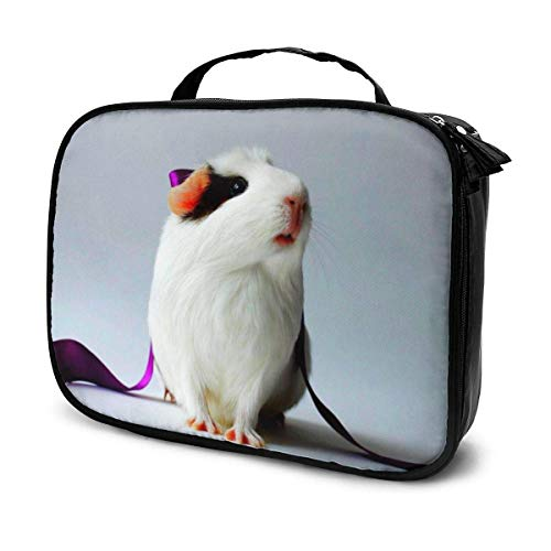 Cute Hamster Sunflower Cosmetic Bag Toiletry Bag, Artist Makeup Organizer Professional Portable Storage Bag Travel Train Case with Top Handle