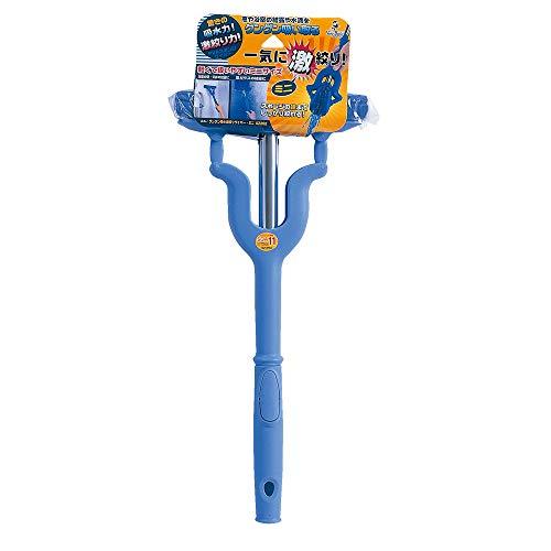 アズマ 吸水モップ グングン吸水激絞りワイパー・ミニ 拭き幅20cm ブルー 吸水力抜群 簡単絞り AZ262