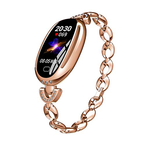 Veotopia Fitness Tracker Smart Watch Damen - Blutdruck Herzfrequenzmesser Schrittzähler wasserdichte Uhr - Armband Aktivitäts-Tracker - Sportarmband Bluetooth