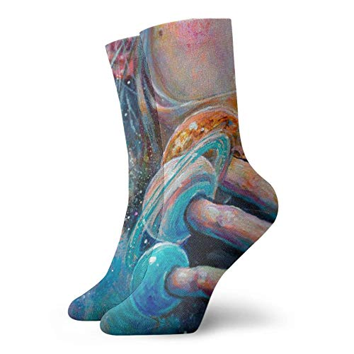 LAVYINGY Surrealism of Oil Painting Socks Socks for Unisex Casual Socks Breathable Athletic Short Socks Breathable Comfortable Light and Casual Funny Novelty