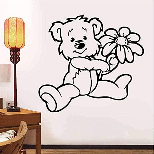 Etiqueta de la pared PVC extraíble etiqueta de la pared de dibujos animados habitación de los niños habitación del bebé familia Art Deco flor 119 * 110 cm