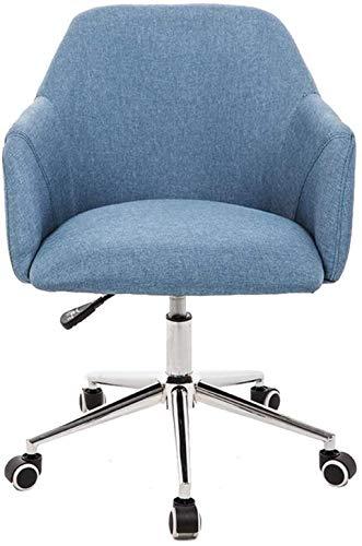 Silla de Oficina Silla de computadora, Silla de Comedor de Cocina, pasamanos ergonómicos y Respaldo ensanchado, diseño extraíble y Lavable Sillón (Color : Blue)
