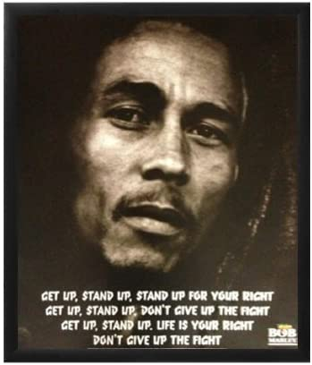 Bob Marley Get Up Stand Up Art Poster Print With Lyrics 16 X20 16 X 20 Poster Bob Marley Lyric Poster Posters Prints