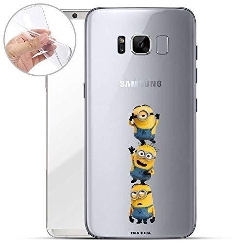 Hülle für Samsung Galaxy S8 - Minions Handyhülle mit Motiv und Optimalen Schutz TPU Silikon Tasche Case Cover Schutzhülle - Minions Turm