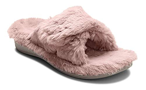 Vionic Women's, Indulge Relax Plush Slipper Blush 7 M