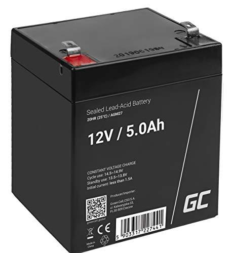 GreenCell® Batteria AGM 12V 5Ah accumulatore sigillata VRLA non manutezione ricaricabile Batterie di ricambio ermetica   giocattoli   giocattoli per bambini   Installazioni di allarme