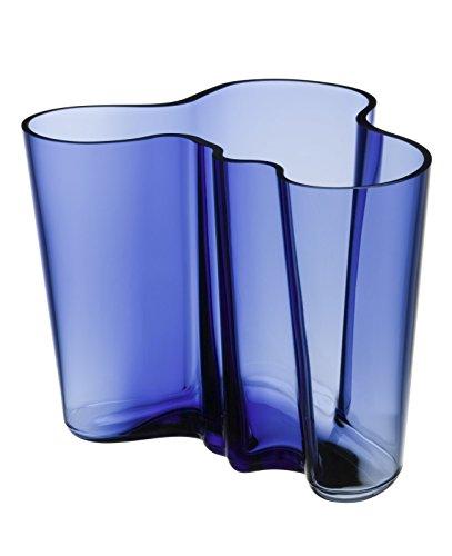 Iittala 1021061 Alvar Aalto Vase, Glas, Ultramarin Blau, 19 x 20 x 16 cm
