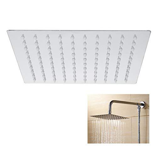 Nivvity Grifo para Lavabo, G1 / 2in Cabezal de Ducha Tipo Lluvia Grifo de baño Lavabo de Acero Inoxidable Grifo de Agua fría para baño Inodoro Negro(Shower Head)