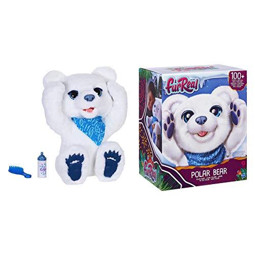 Hasbro F2051 FurReal Friends Eisbär, Mein Knuddeleisbär, interaktives Plüschspielzeug, ab 4 Jahren