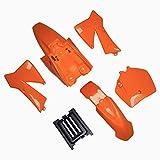 Kit de guardabarros de plástico de repuesto para KTM50 KTM50SX MT50 MTK50 Mini Adventure 2002-2008 KTM 50 SX Junior 50 cc Naranja