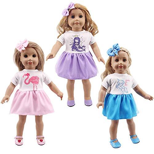 WENTS Vestiti e Accessori per Bambole 6PCS Accessori per Vestiti Fatti a Mano Adorabili per 18 Pollici Baby Dolls Bambola, American Girl Dolls, bebé Bambolotti Amore Mio E Altre Bambole