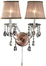 OK-5126s 17-Inch Rosie Crystal Wall Sconce Deer Antler Inspired Lamp