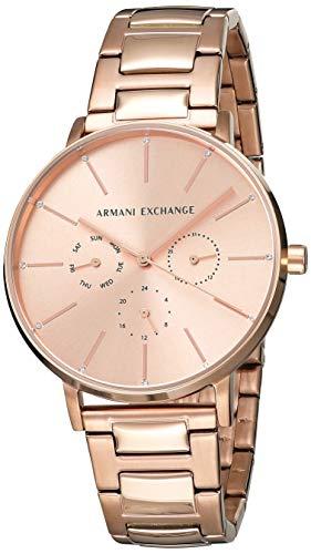 Armani Exchange Reloj Analógico para Mujer de Cuarzo con Correa en Acero Inoxidable AX5552
