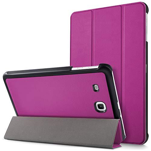 Mama Mouth Samsung Galaxy Tab E 9.6 Schlank hülle, Ultra Schlank Superleicht Ständer PU Leder Smart Shell hülle mit Standfunktion für 9.6