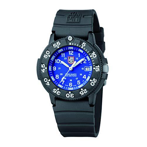 Luminox Outdoor Uhr Herren (XS.3003.F) Made in Schweiz, Schwarzes Uhrband und Carbon-Gehäuse, Blaues Ziffernblatt, 200m Wasserdichte Taucher Uhr