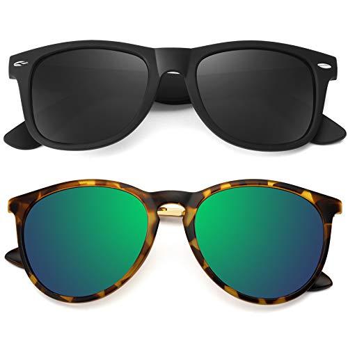 STORYCOAST Polarized Sunglasses for Women Men Retro Mirrored Sun...