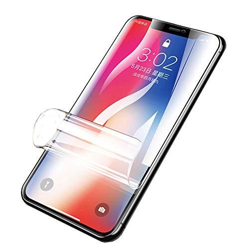 """SOMEFUN【2 Piezas】Protector de Pantalla Compatible con iPhone X/XS 5.8"""" Alta Sensibilidad Película Protectora de Hidrogel de TPU Suave [no Vidrio Templado, Transparente]"""