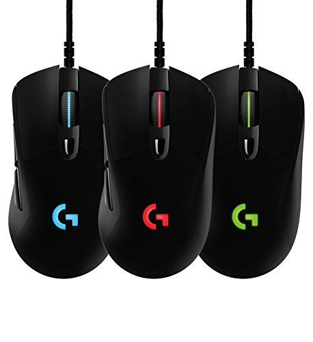 Logitech G403 Wired Optical Gaming Mouse with 12000 DPI, 16.8 Million Colours for PC, MAC, USB - Black