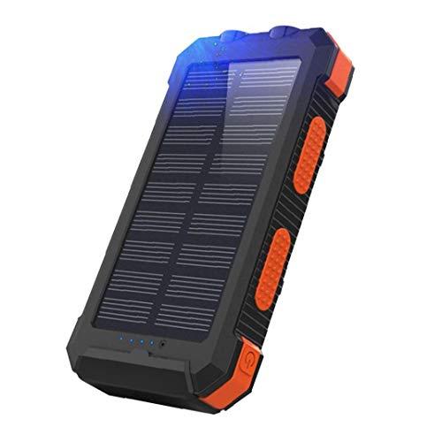 GGOOD Cargador Solar portátil inalámbrico Cargador 26800mAh del Banco móvil de alimentación brújula del teléfono móvil de la energía Solar para el Exterior de Orange