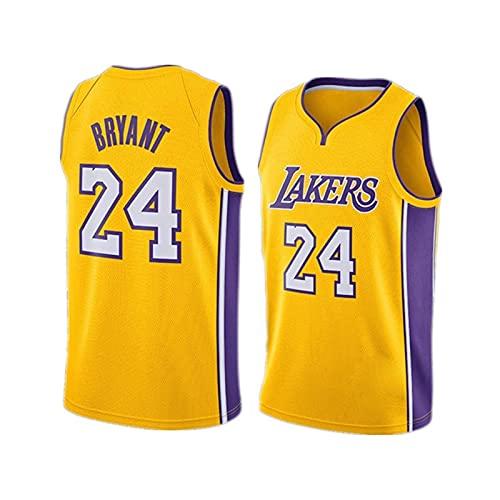 GQTYBZ Camiseta de Baloncesto para Hombre, Kobe Bryant # 24 - Camiseta de la NBA Los Angeles Lakers, Tela Fresca y Transpirable, Camiseta de Baloncesto City Edition Jersey Swingman Mesh