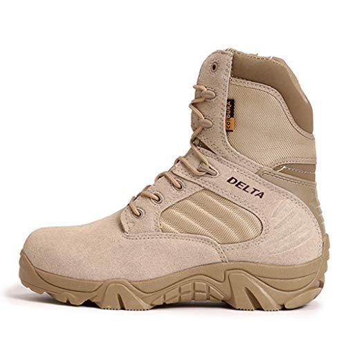 Yujingc Delta Military Boots für Herren Commando Combat Boots Desert Tactics Land Stiefel Wandern Bergsteigen Schnürschuhe Schuhe Größe 35-46,Sand,41