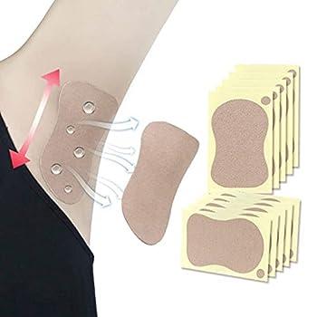 CheeseandU Underarm Sweat Pads,10Pack Disposable Absorbent Sweat Armpits Perspiration Pads Self-adhesive Underarm Shields Sweat Guards Protectors for Men Women Reduce Armpit Foot Sweat