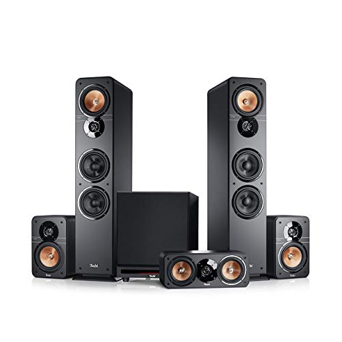 Teufel Ultima 40 Surround Power Edition 5.1-Set Schwarz Heimkino Lautsprecher 5.1 Soundanlage Kino Raumklang Surround Subwoofer Movie High-End HiFi