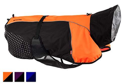 Non-Stop Dogware Hunde-Regenjacke Beta Pro Raincoat, orange/schwarz, (50 (bis 50 cm Rückenlänge))