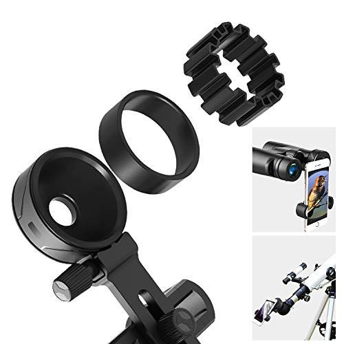 Adattatore Universale Smartphone Cellulare per Telescopio, Cannocchiale, Binocoli, Microscopi,Monocoli,Telescopi Spotting Scope- Adatto per oculare diametro 26 mm-43,5 mm