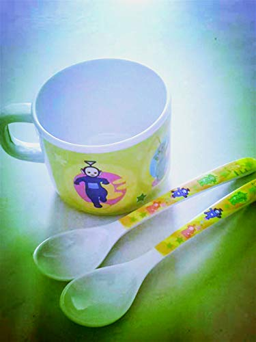 Teletubbies Vajilla Melamina BPA Free Tumbler Spoon Vajilla para Cubertería Infantil