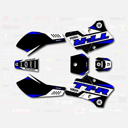Black Blue Shift Racing Graphics fits 2000-2013 YAMAHA TTR90 decal TTR 90 00-13