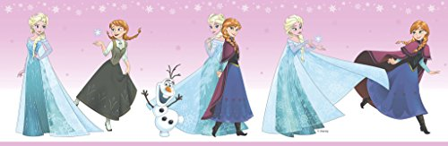Dandino Bordüre fr3524–2Kinder Frozen Snow, Rosa, 25x 20x 20cm