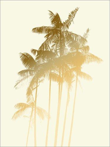 Posterlounge Lienzo 60 x 80 cm: Golden Palm Trees de Alex Saberi - Cuadro Terminado, Cuadro sobre Bastidor, lámina terminada sobre Lienzo auténtico, impresión en Lienzo