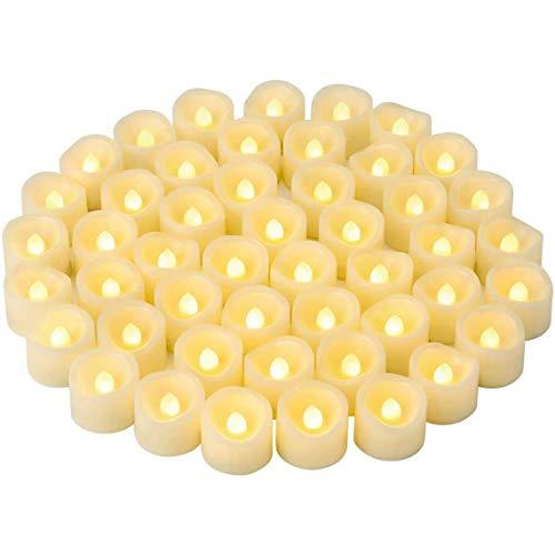 Heart&M LED Luces de té Parpadeante sin Flickering LED Velada votiva Acoplada/Flicker...