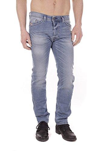 Diesel Herren Regelmäßige 842H Darron dünne Jeans in Karottenform, Blau, 30W x 30L