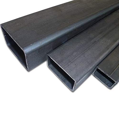 B&T Metall Stahl Rechteckrohr 50 x 30 x 3,0 mm in Längen à 2000 mm +0/-3 mm Flachkantrohr ST37 schwarz roh Hohlprofil Rohstahl