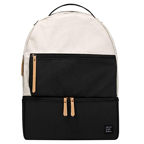 Petunia Pickle Bottom Axis Backpack | Baby Bag | Diaper Bag Backpack | Baby Bottle Bag for Parents | Stylish Baby Bag Organizer| Sophisticated and Spacious Backpack for On The Go Moms | Birch/Black