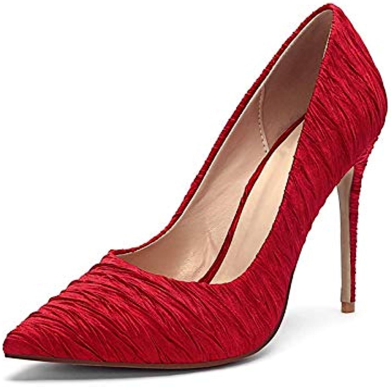 MENGLTX High Heels Sandalen Mode Flache Pumps Frauen Schuhe Spitz Top Dünne Fersen Schuhe Elegante Sommer Hochzeit Schuhe Frau