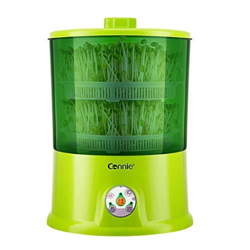 Germes de soja Machine Automatique Maison, Culture à température constante Cheveux germes de soja Grande capacité Quatre Saisons Universel Deux Couches Vert