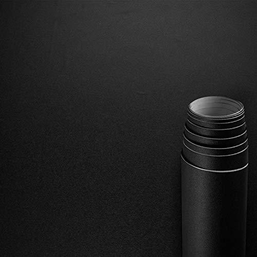 AWNIC Vinilo Papel Adhesivo para Muebles Negro Mate/Simplicidad/Muebles Pegatinas Impermeable a Prueba de Aceite para el Forro de los Muebles/Armario Mesa Baño Cocina Decoración 300x40cm