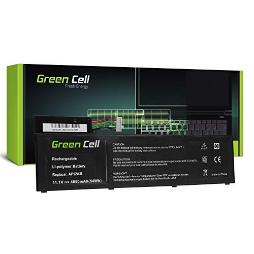 Green Cell® AP12A3i AP12A4i Batería para Acer Aspire M3 Timeline Ultra M3-581TG M3-481 M5 M5-481TG M5-581TG TravelMate P648 P658 Iconia Tab W700 W700P Ordenador (4850mAh 11.1V Negro)