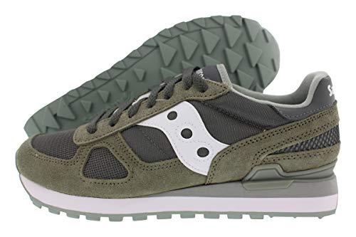 Saucony Jazz - Sneakers Originali da Uomo, Colore: Grigio Acqua/Blu Navy, (Borgogna Verde), 40 EU