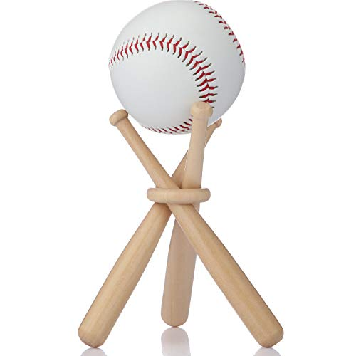Baseball Stand Holder Wooden Baseball Bats Display Stand Holder Set for Ball for Kids (1)