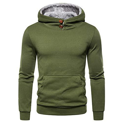 JPDD Herren Hoodie Pullover Winter Warme Fleece Jacke Sweater Jacke Outwear Mantel Herren Sweatjacke Kapuzenjacke Hoodie mit Kapuze Langarm T-Shirt Herren Sweatshirt Kapuzenpullover