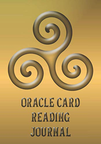 Oracle Card Reading Journal: Triple Spiral - Triskelion in gold colors - magic symbol from neolithic period