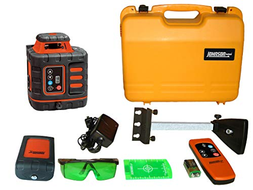 Johnson Level & Tool 40-6543 Self-Leveling Rotary Laser Level with GreenBrite Technology