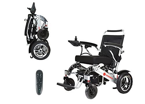 Le fauteuil roulant électrique de Bangeran pliant léger 50 livres avec des batteries soutient le cadre d'alliage d'aluminium de catégorie de l'avion 360 lbs beaucoup plus fort, les roues arrières